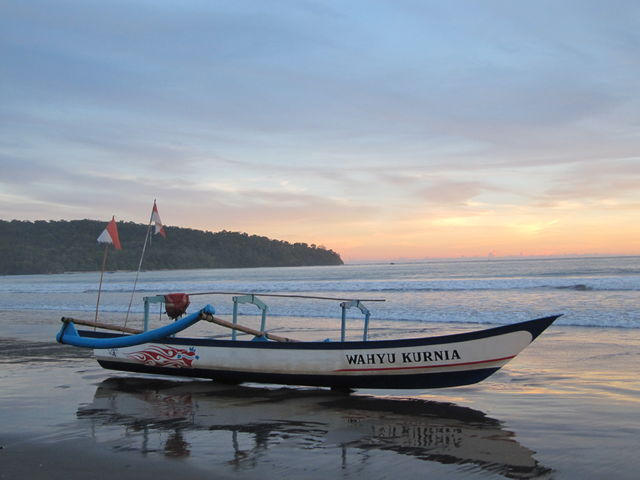 Strand Pangandaran Boot Java Indonesië